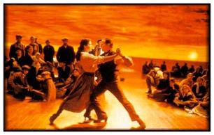 """""""Tango"""" de Carlos Saura (1997/8). Composición de fotos del Casting original."""
