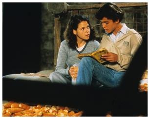 """""""Un lugar en el mundo"""" de Adolfo Aristarain (1991). Gastón Batyi y Lorena del Río, surgidos del casting."""